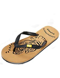 3d60b6ddd39a MIRRAY Men Sliders Classic Summer Pool Shoes Beach Holiday Sandals Male  Slipper Tiger Print Flip Flops