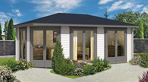 Alpholz 5-Eck Gartenhaus Julia-40 ISO, 40 mm Wandstärke (588 x 400 cm)