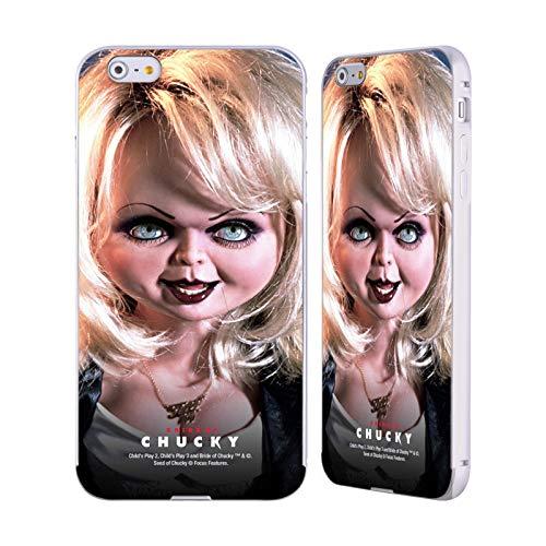 Head Case Designs Offizielle Bride of Chucky Tiffany Puppe Schluessel Kunst Silber Aluminium Bumper Slider Huelle kompatibel mit iPhone 6 Plus/iPhone 6s Plus