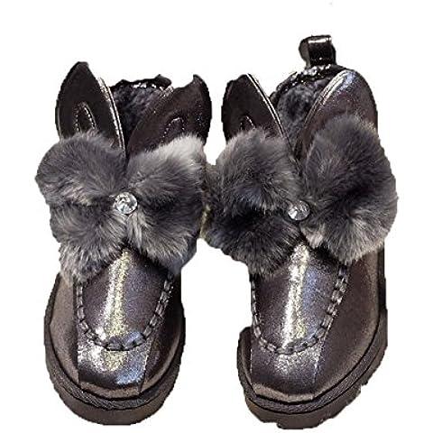 SHIXR Ladies neve stivali nuovo breve peluche di babbucce bella spessa ispessimento per autunno/inverno stivali , gun color , 39