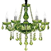 Kristalllampe Kerze Pendel Lampe Glas Hängelampe Kristall Kronleuchter  Wohnzimmer Deckenleuchte Kristalllüster 8 Lichter Mit Lampenschirmen