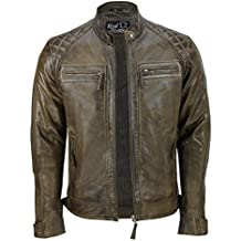 best loved 4e0cf d0b49 Amazon.it: giacca pelle uomo vintage - Marrone