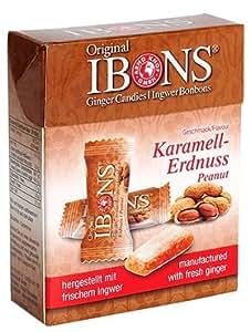IBONS Kaubonbons 60 g (Ingwer-Erdnuss)