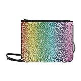 WYYWCY Regenbogen-Glitter-kundenspezifische hochwertige Nylon-dünne Handtasche Umhängetasche mit...