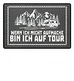 shirt-o-magic .bin ich auf Tour - Geschenk Wohnmobil Wohnwagen - Fußmatte