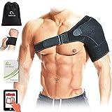 Benificer Schulterbandage mit Neopren verstellbarer Riemen für Männer und Frauen,Kompression Eispackung für die Schulter, Entlastung für Schulterschmerzen, Rotatorenmanschette, Schutz vor Verletzungen
