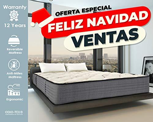 Lisabed Flex - Pack Colchón_2 Almohadas 150x190 Lisa-Flex, Viscoelástico de Grafeno de Alta Densidad, núcleo Fresh Natur, Gama Prestige Hotel, 26cm