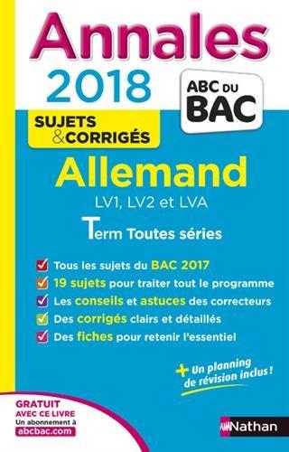 Annales ABC du Bac Allemand L-ES-S 2018