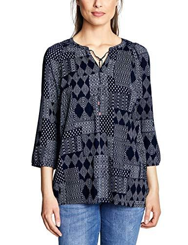 Cecil Damen 341393 Bluse, deep Blue, Large (Herstellergröße:L)