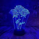 WangZJ 3d Led Lampe Nachtlicht / 3d Visuelle Illusion Lampe / 7 Farben Touch/baby Kinder Schlaf Lampe/weihnachtsgeschenk /3D Rose
