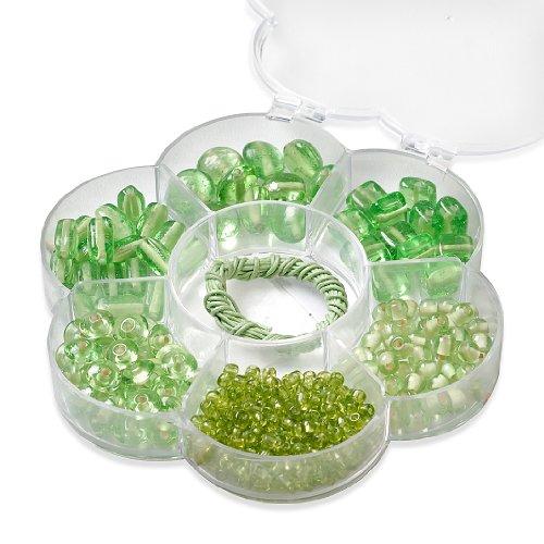 Knorr Prandell 6049143 - Sortimentsbox Blume, 6 Sorten, 90 g, Wachskordel in Box, hellgrün handgefertigt