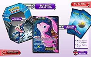 La BOX Attaque Eclair MEW EX Full Art RC24/RC25 Legendary Treasure + 2 booster optimisés de 10 cartes Anglaises