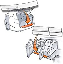 Arranque/protectores de alféizar de la puerta pintura Set transparente 150µm pintura protección-Pack de 8-Ideal para tipos de vehículos mencionado en la descripción