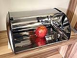 Boîte à pain à couvercle coulissant  gedotec boîte à pain en inox-fabriqué en...