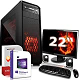 SYSTEMTREFF Gamer PC AMD Ryzen 2200G 4 x 3,7 GHz 16GB 2400 MHz DDR4 RAM GTX 1060 6GB Grafikkarte 256GB Boot SSD 500GB HDD Windows 10 Komplet System Multimedia