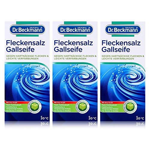 Dr. Beckmann Fleckensalz | gegen hartnäckige Flecken und leichte Verfärbungen | für die Waschmaschine und zum Einweichen | mit Gallseife, 3er Pack (3x 500 g)