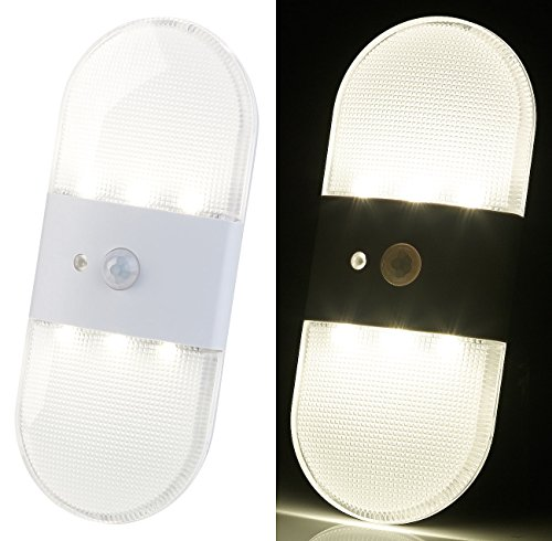 PEARL Wandlicht: Batterie-LED-Wandleuchte, Bewegungs- & Licht-Sensor, 80 Lumen, IP44 (LED Wandlicht) (Kleine Bewegungs-sensor-led-licht)