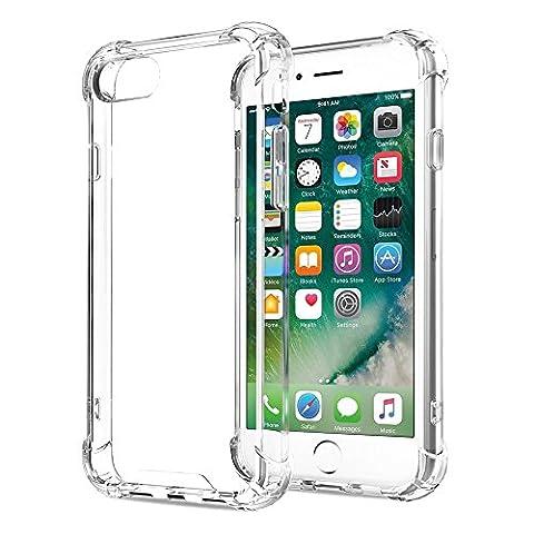 Coque iPhone 8 Coque iPhone 7, ONSON® Silicone Gel Etui iPhone 7 iPhone 8 Antichoc Housse iPhone 7/8 Transparente Coque de Protection Pour Apple iPhone 7/8