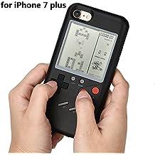 Funda para iPhone7/7 Plus de Prevently con diseño de Game Boy resistente a las caídas, se puede jugar a varios juegos, hecha de plástico ABS de alta calidad, B