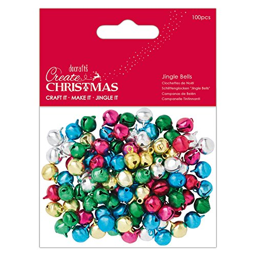 Create Christmas Papermania Jingle Bells (100 Stück) - Bright, Multi, One size