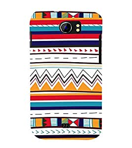 Fiobs Designer Back Case Cover for Micromax Canvas 2 A110Q :: Micromax A110Q Canvas 2 Plus :: Micromax Canvas 2 A110 (Patterns Design ZigZag Lines Dots Flags)