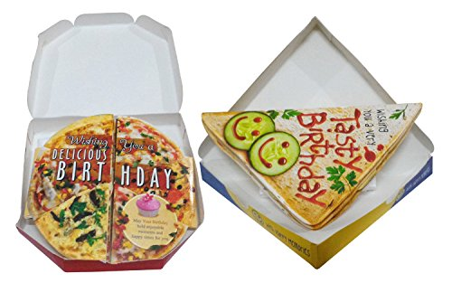Saugat Traders Pizza & Sandwich Themed Birthday Greeting Cards