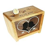 Il salvadanaio divertente con incisione come regalo di nozze in denaro - un prodotto di qualità dal marchio Magische Geschenkbox Vi è mai capitato? Siete stati invitati a un matrimonio o a una cerimonia e v...