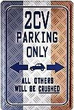 Diseño 2CV Parking Only 20 x 30 cm publicidad Retro chapa 1297
