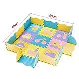 Kinder Zaun Spiel Spiel Krabbeln Mat Baby Baby Puzzle Matten Verdicken Splice Wohnzimmer Schlafzimmer Home Schutzboden Pad -Puzzlekissen (Farbe : #5)