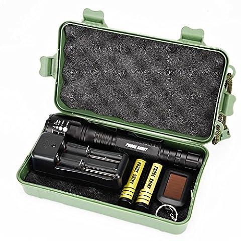 Rechargeables,OVERMAL X800 Lampe De Poche Led Cree Xm-L2 Tactical Zoom 2 Batterie 18650