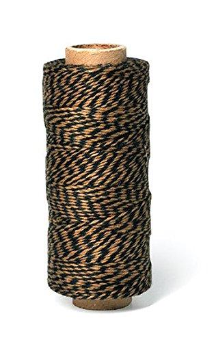 Hemptique Bakers Twine Bobine de ficelle 2 plis Noir et marron clair