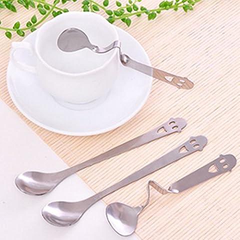 SQL Carina personalità creativa piegato cucchiaio caffè cucchiaio in acciaio