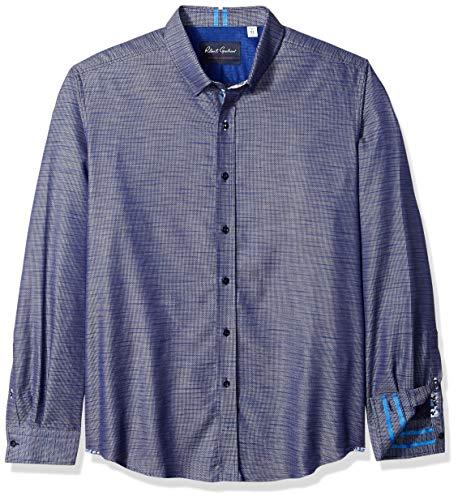 Robert Graham Herren CRANTOR Long Sleeve Slim FIT Shirt Button Down Hemd, Navy, XX-Large -