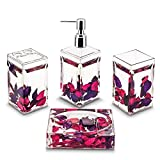 Freelance Eden Acrylic 4 Pieces Bathroom Set-Dispenser, Toothbrush - Best Reviews Guide