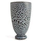 Rosemarie Schulz Blumenvase in Blau Dekovase Tischvase Vase aus recykeltem Glas (Blau, 25,5x15 cm)