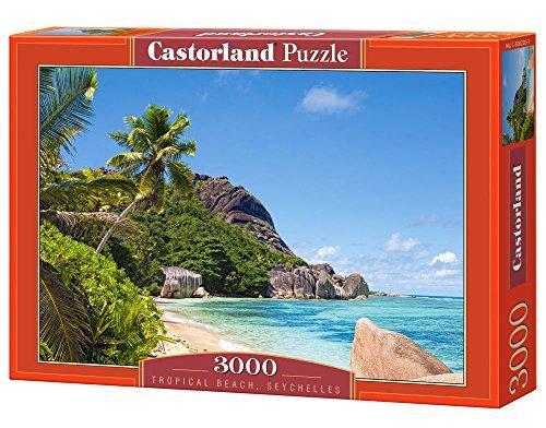 Castorland - C-300228-2 - Puzzle - Seychelles - Plage Tropicale - 3000 Pièces