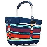 reisenthel - EXKLUSIVES ANGEBOT! carrybag 2 + GRATIS passendes cover ! Einkaufskorb Einkaufstasche (artist stripes)