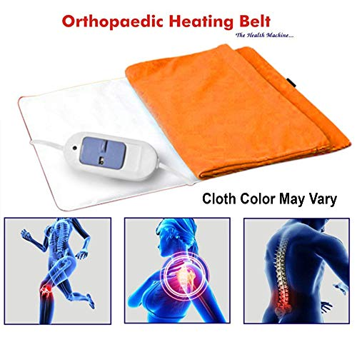 Elove Orthopaedic Electric Heating Pad With Waist Belt & Temperature Controller For Pain Relief (Cloth Color May Vary)