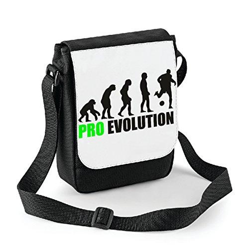 Mini borsa a tracolla Pro Evolution - football - calcio - humor Bianco