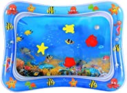 HITOP Inflatable Water Play Mat,Tummy Time Baby Water Mat Infant Water Mat Toy for 3-6 Months Baby Boy Girl