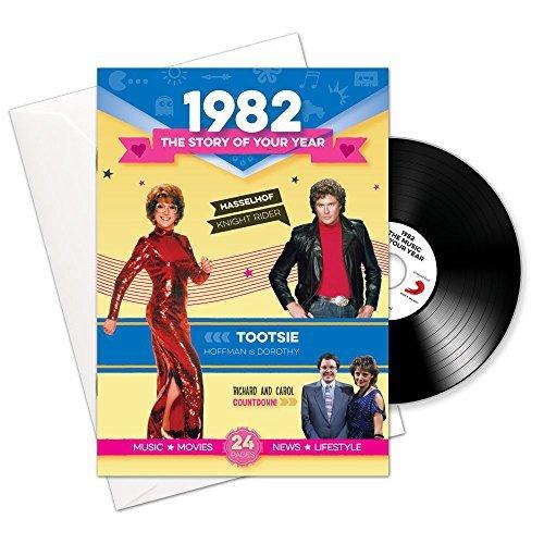 1982 compleanno o un anniversario Regali - 1982 4-in-1 Card e Gift - storia della tua Anno, CD, Music Download