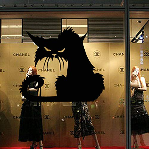 XSLIVE Wandaufkleber Glasfensterrückseite Der Schwarzen Katze Halloweens Fein Geschnitztes Jingpapier DIY Wanddekoration