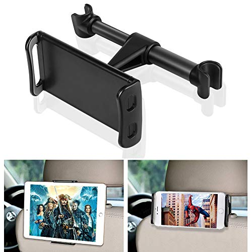 SunTop Universal Tablet Halterung Auto, Halterung 360° Grad Einstellbare rotierende Autositz-Kopfstützenhalterung, KFZ-Kopfstützen mit 4~11 Zoll