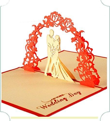 BC Worldwide Ltd Handgemachte 3D Pop-up-Pop-up-Karte Hochzeitsgeschenk Jahrestag großen Tag Party Einladung Engagement Junggesellinnenabschied Ehe Vorschlag Valentines Karte ihr ihm