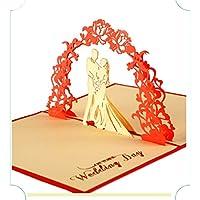 BC Worldwide Ltd Pop-up 3D pop-up pop-up regalo di nozze anniversario grande giorno festa invito fidanzamento gallina festa matrimonio proposta carta di San Valentino