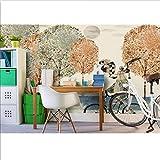 Benutzerdefinierte Foto 3d Tapete Vlies Wandbild Cartoon Radfahrer Pinguin Dekoration Malerei 3d Wandbilder Tapete für Wohnzimmer-400x280cm