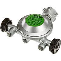 GOK 310/706-1 CN60 - Válvula reductora de presión para acampada (2 salidas, 50mbar, acople de 6,4mm)