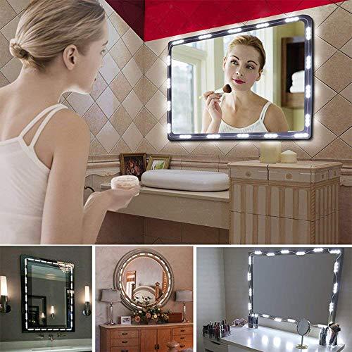 Kits Ruban LED Pack 3.5 Metre 60 Spots Bande Lumineuse Lampe Ampoule Lumière Luminaire Blanc Chaud Eclairage pour Maquillage Coiffeuse Miroir Etanche Autocollant