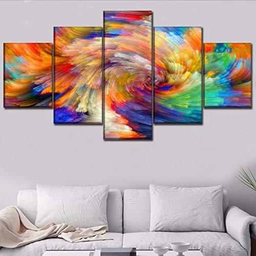 Hlfymx (nessuna cornice) tela pittura homecor 5 pezzo colorato astrattosegnoartisticoe per soggiorno wall art stampa postercor