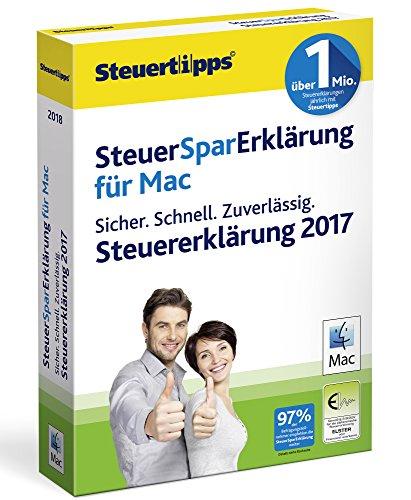 SteuerSparErklärung MAC 2018 (für Steuerjahr 2017)